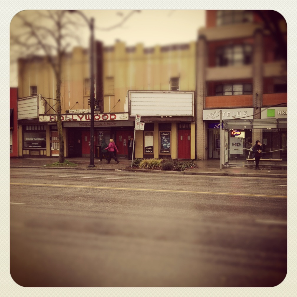 Hollywood Theatre on Broadway. Kitsilano, BC