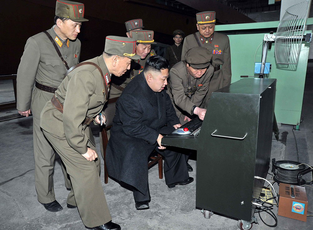 I may get in trouble for using this image? Thought it was released by the DPRK themselves. If not, here's a delightful image of Militants showing Kim Jong-Il all of their favourite websites.
