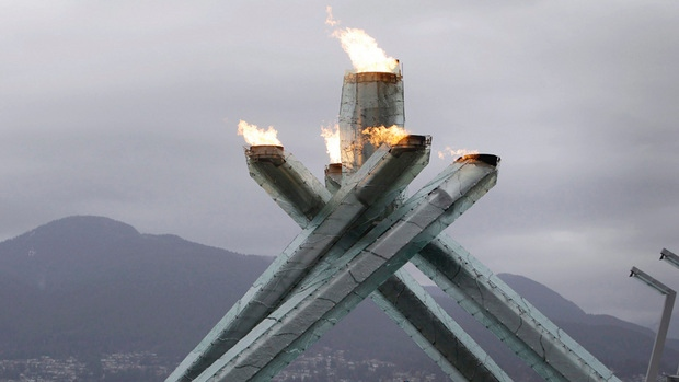 The 2010 olympic torch in Vancouver, BC - CBC.ca